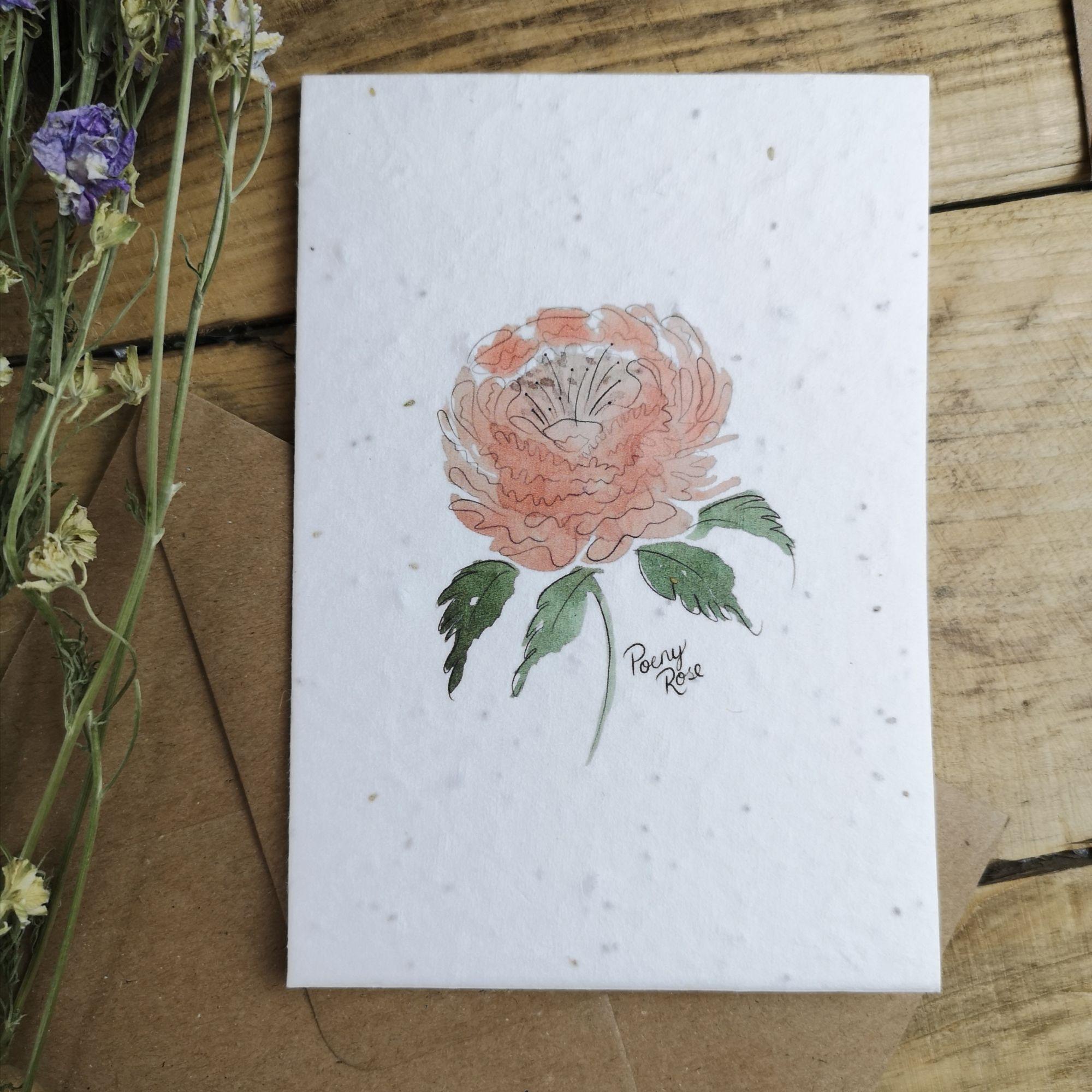 Poeny Plantable Card