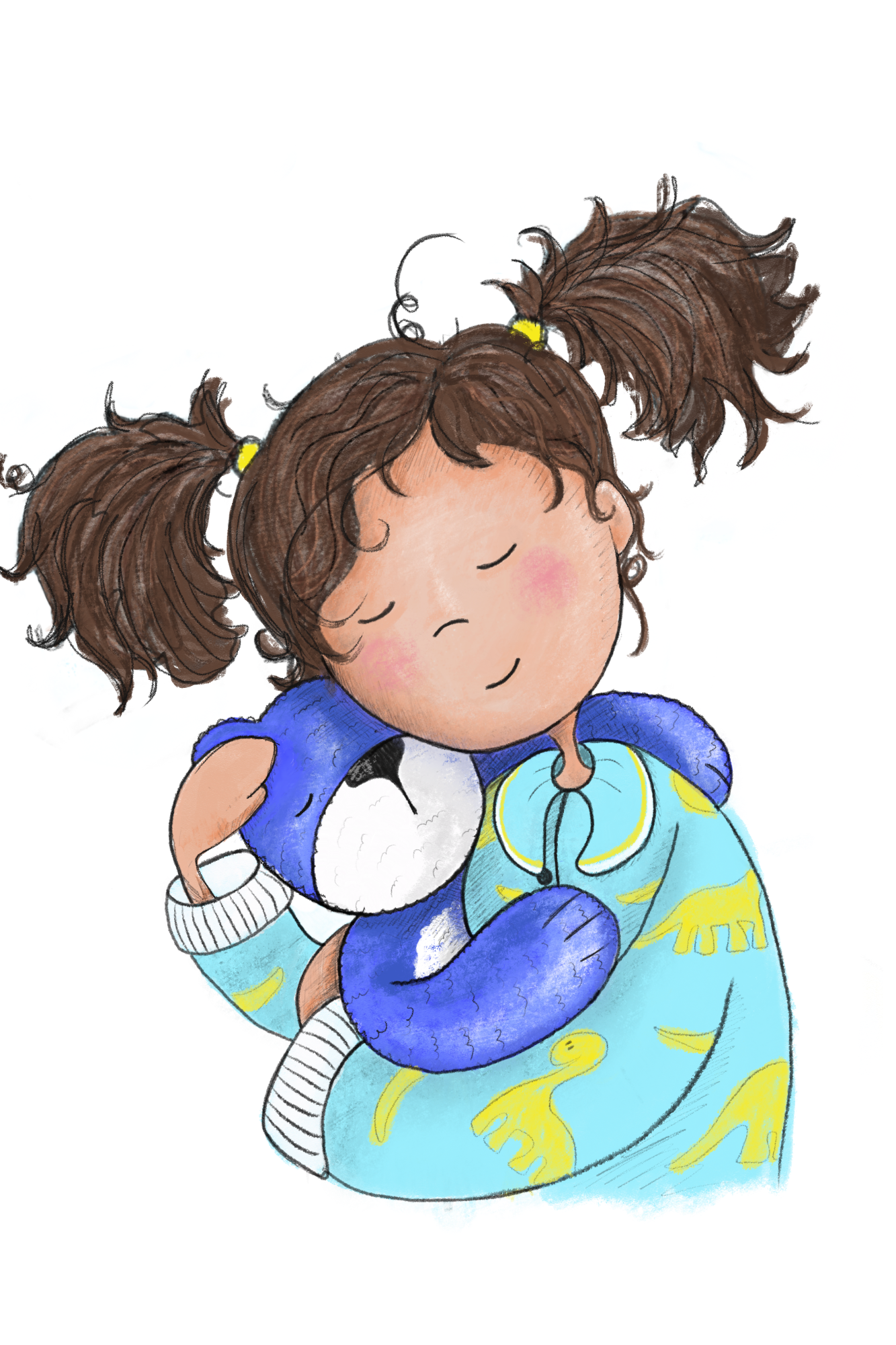 Girl with Blue Bear fom The Sleep Book.png