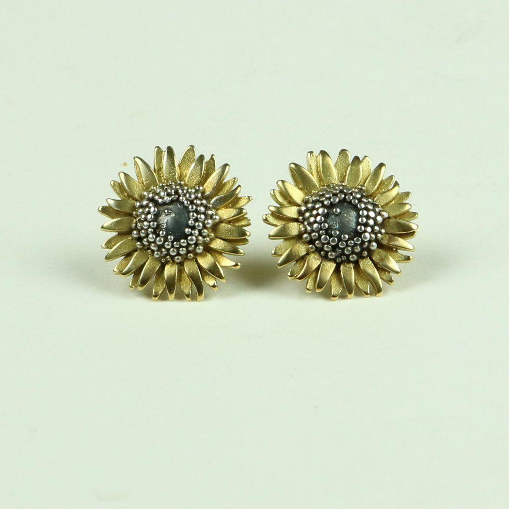 Sunflower Small Stud Earrings