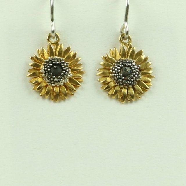 Sunflower Small Drop Earrings