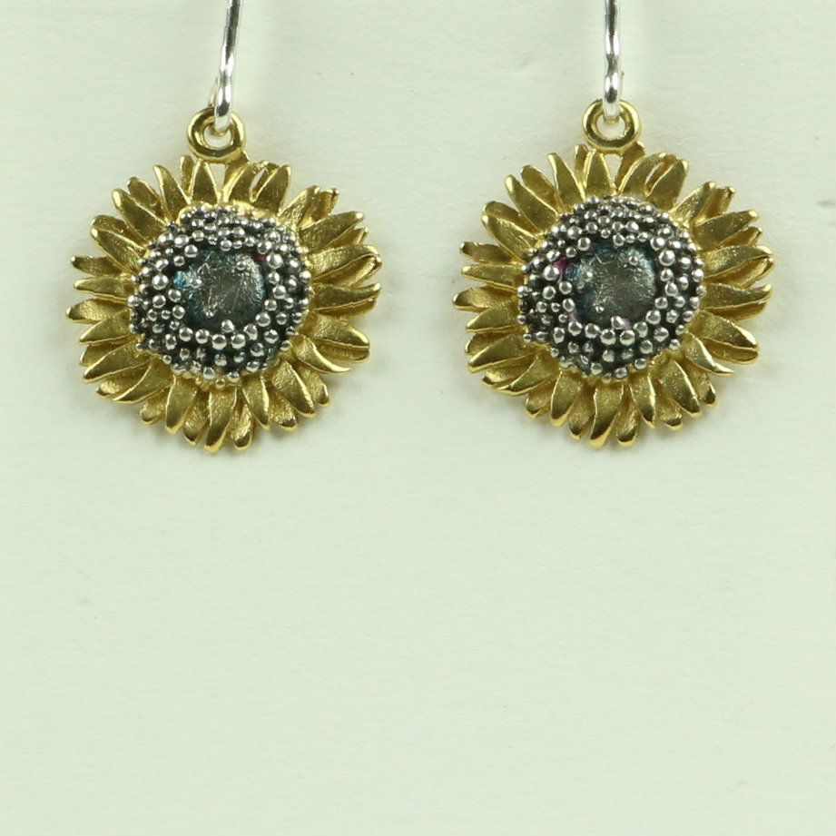 Sunflower Medium Drop Earrings