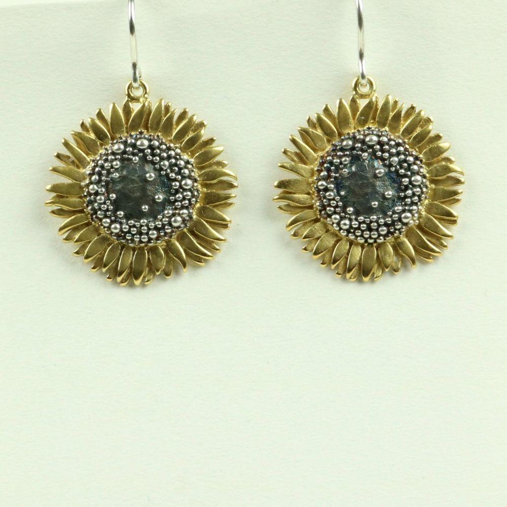 Sunflower Large Drop Earrings
