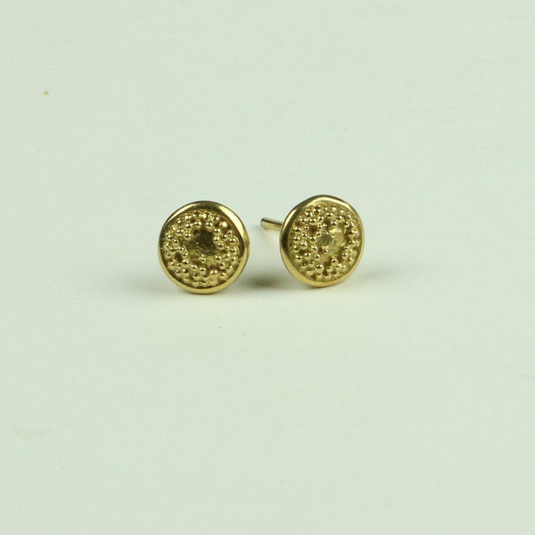 Sunflower Centre Stud Earrings