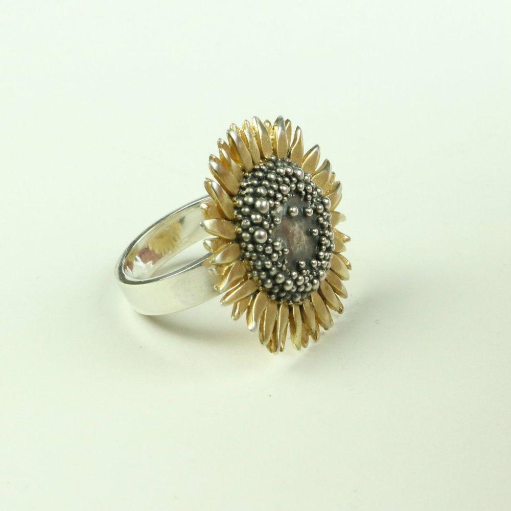 Sunflower large ring