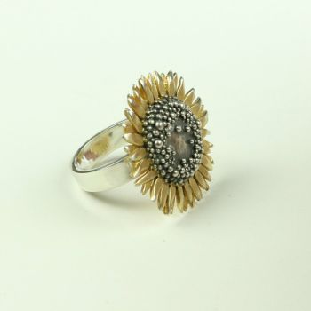 Sunflower large ring