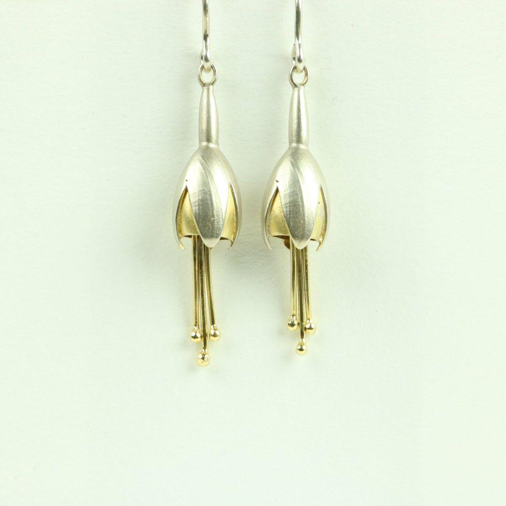 Fuchsia Medium Drop Earrings