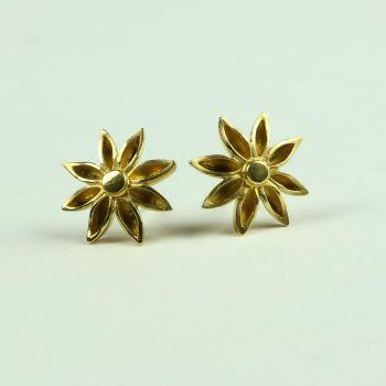 Star Anise Medium Stud Earrings
