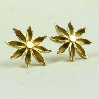 Star Anise Large Stud Earrings