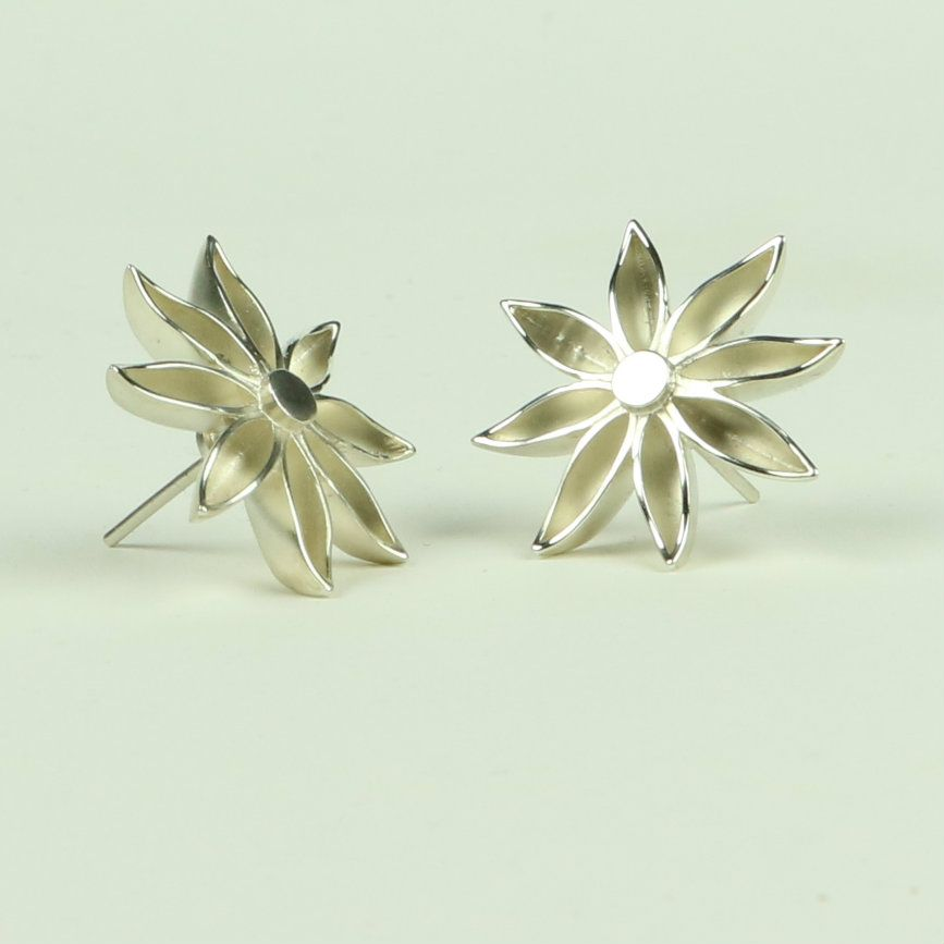 Star Anise Large Stud Earrings