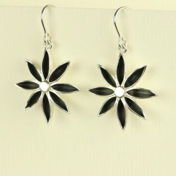 Star Anise Large Drop Earrings