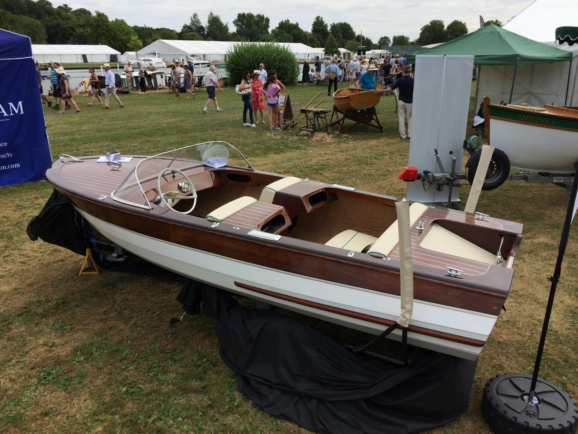 henley traditional boat rally broom viking on the fine wooden boats stand