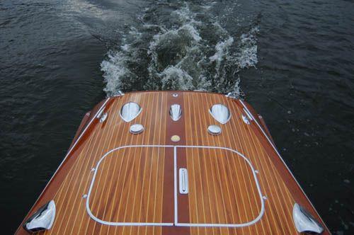riva boat chrome fittings on a riva tritone