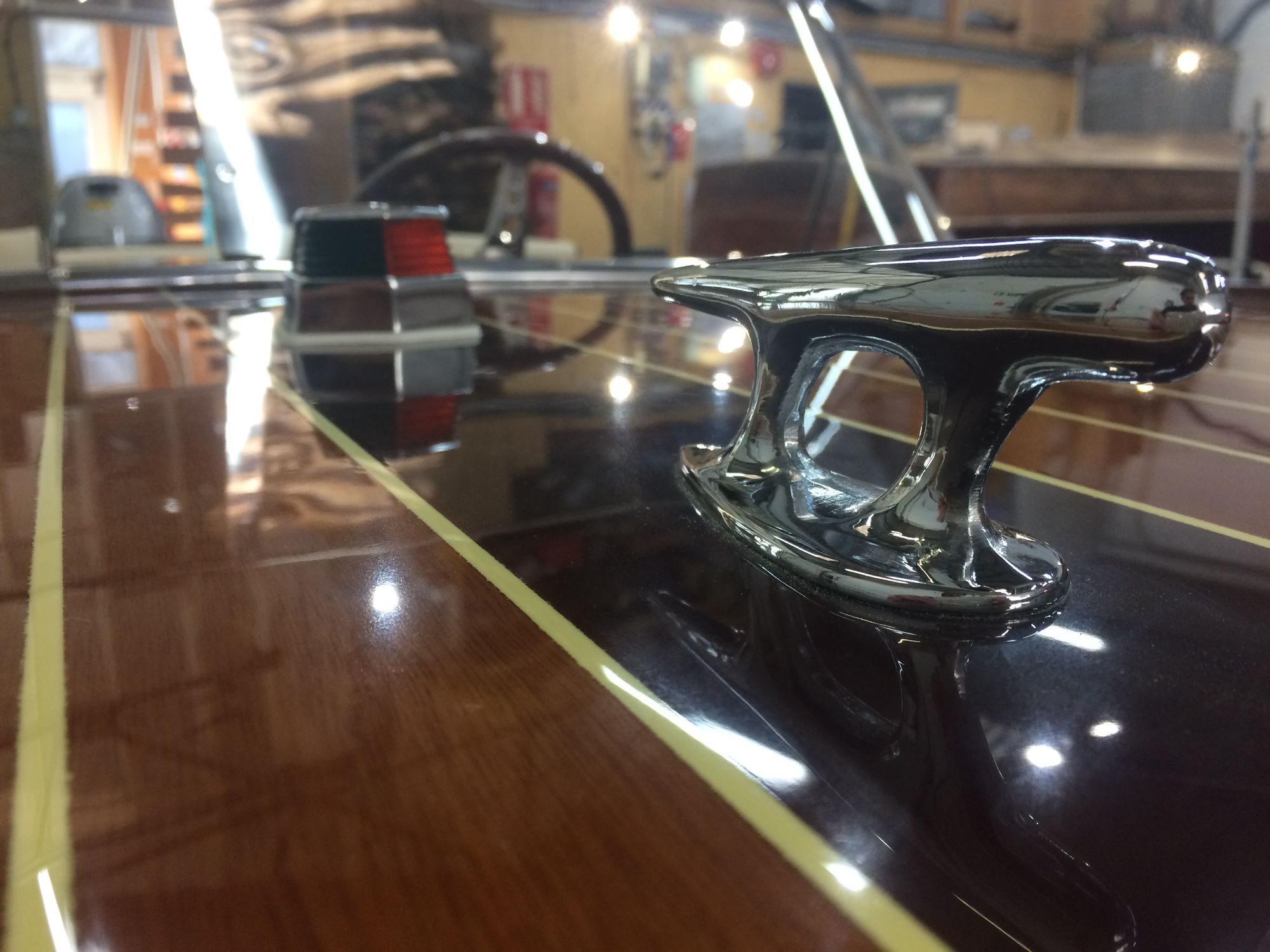new chrome fittings on this broom viking speedboat