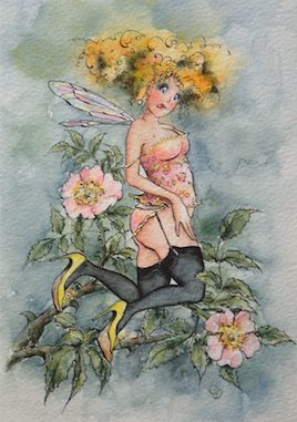 'Wild Rose' Art Card