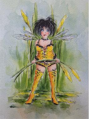 'Daffodil' Art Card