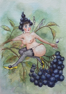 'Elderberry' Art Card