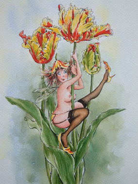 'Tulip' Art Card