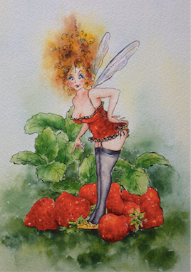 'Strawberry' Art Card