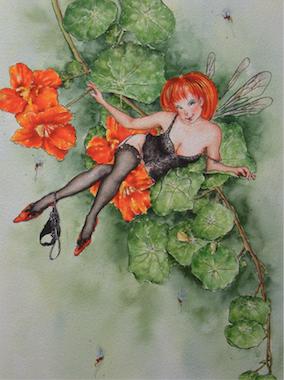 'Nasturtium' Art Card