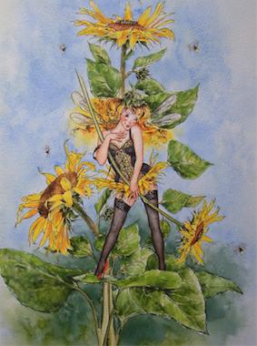 'Sunflower' Art Card