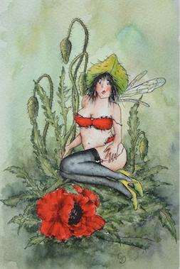 'Poppy' Art Card