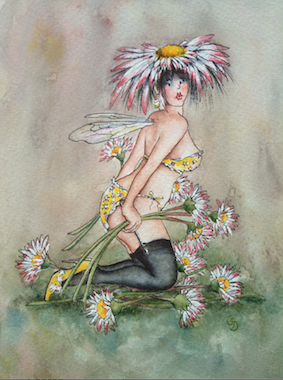 'Daisy' Art Card