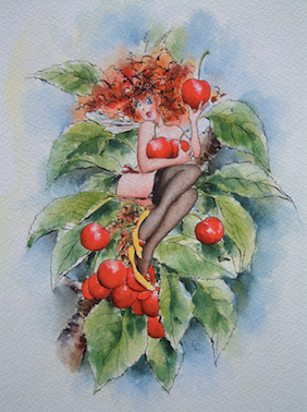 'Cherry' Art Card