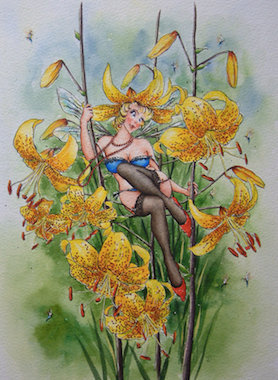 'Lily' Art Card