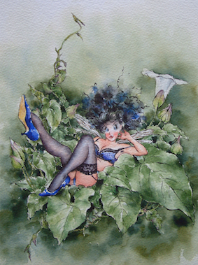 'Convulvulus' Art Card