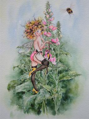 'Foxglove' Art Card