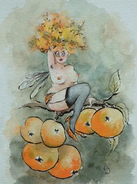'Crabapple' Art Card