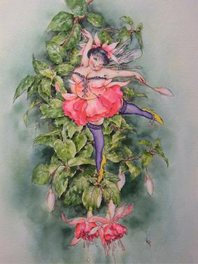 'Fuchsia' Art Card