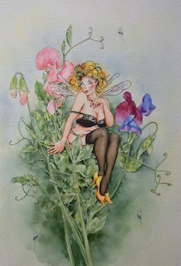 'Sweet Pea' Art Card