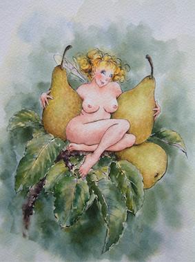 'Pear' Art Card