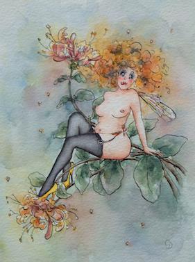 'Honeysuckle' Art Card