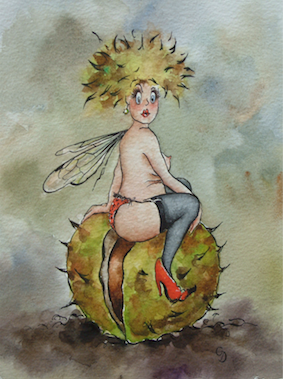 'Chestnut' Art Card
