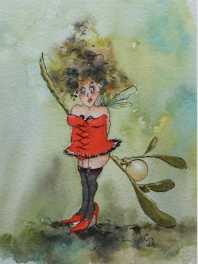 'Mistletoe' Art Card