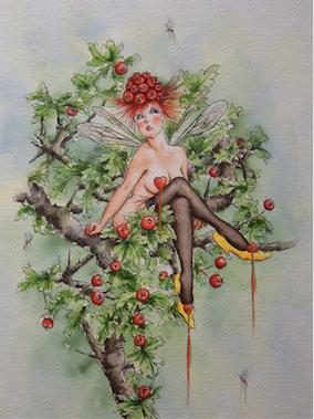 'Hawthorn' Art Card