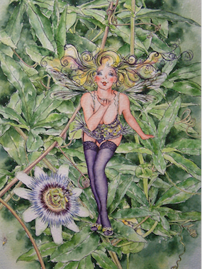 'Passionflower' Art Card
