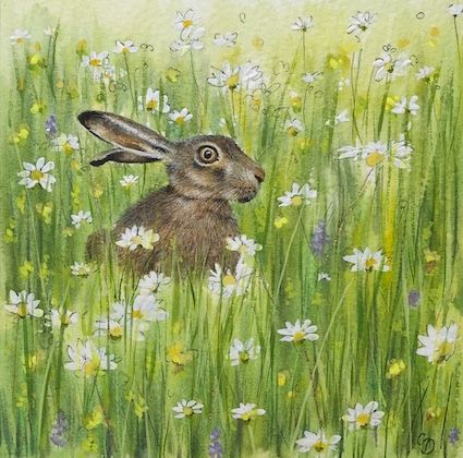 'Meadow Hare' Hand-Signed Print