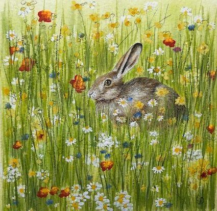 'Hidden Hare' Hand-Signed Print