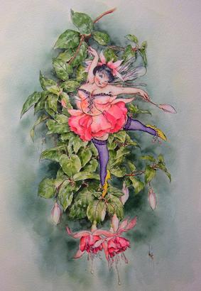'Fuchsia' Hand-Signed Print