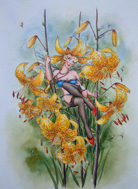 'Lily' Hand-Signed Print