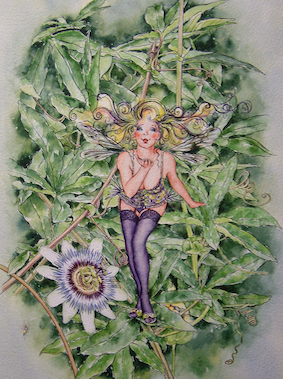 'Passion Flower' Hand-Signed Print