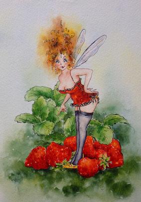 'Strawberry' Hand-Signed Print