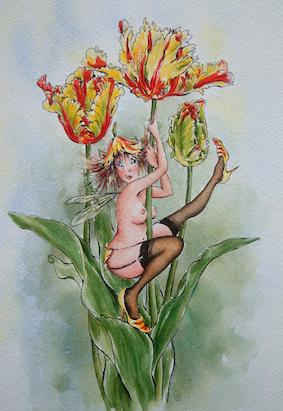 'Tulip' Hand-Signed Print