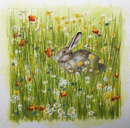 'Hidden Hare' Original Painting