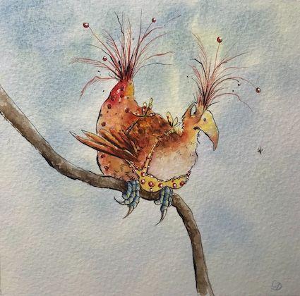 'Booby Bird 1 - Winter Plumage' - Original Painting