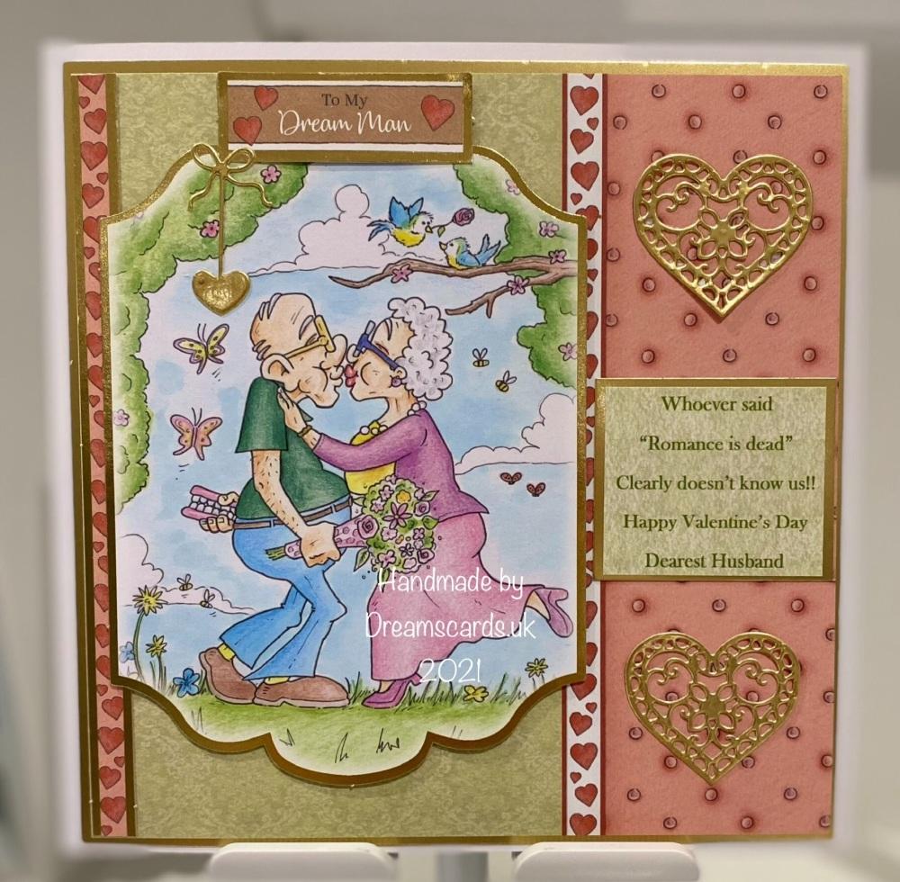Valentine's Day 7 x 7 Husband card.
