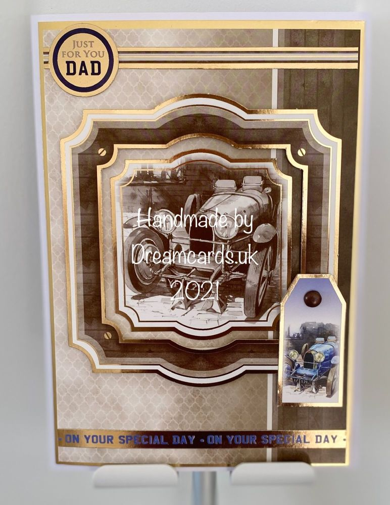New Product A5 card suitable for men on their birthday or Father's day